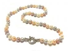 Collana NABA Young con perle Ikechogai e chiusura in argento